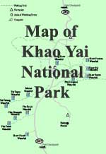 click for a map of Khao Yai National Park