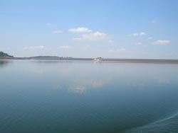A view across the reservoir to Khlong Tha Dan Dam, Nakon Nayok