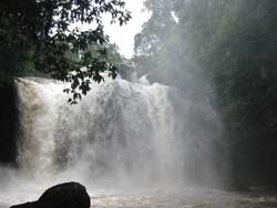 Heaw Suwat Waterfall , Khao  Yai, at its rainy season peak