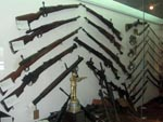 weapons exhibit at the 100-year Military Museum